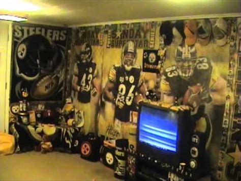 my steelers mancave - YouTube
